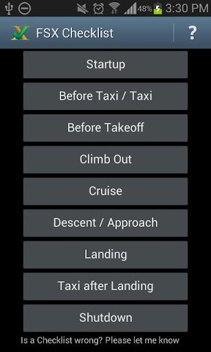 FSX Checklist