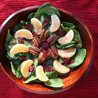 Cranberry, Tangerine, and Pecan Salad with Cranberry – Orange – Vanilla Dressing