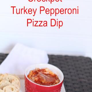 Crockpot Turkey Pepperoni Pizza Dip