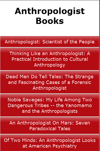Anthropologist Books