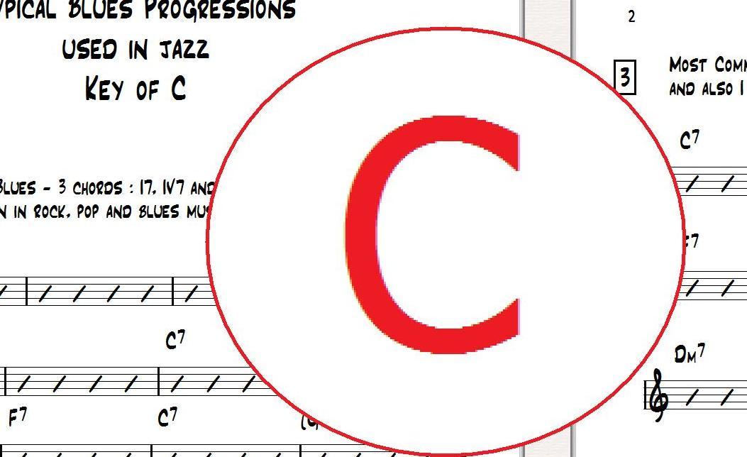 jazz guitar blues progressions