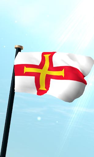 根西島旗3D免費動態桌布