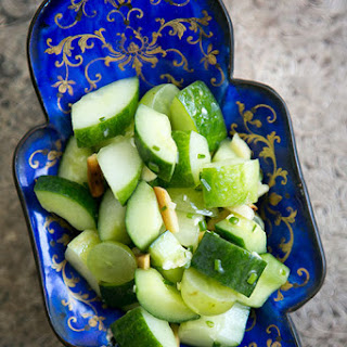 Cucumber Salad with Grapes and Almonds