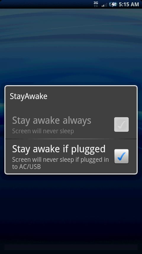 StayAwake - screenshot