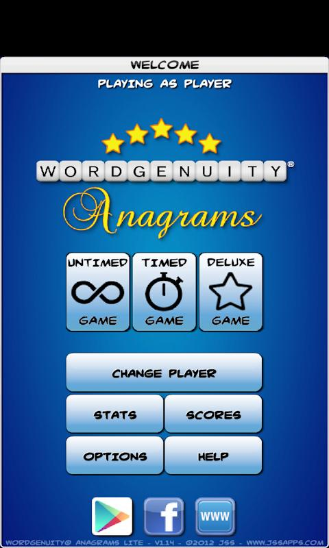 Wordgenuity® Anagrams Lite - screenshot