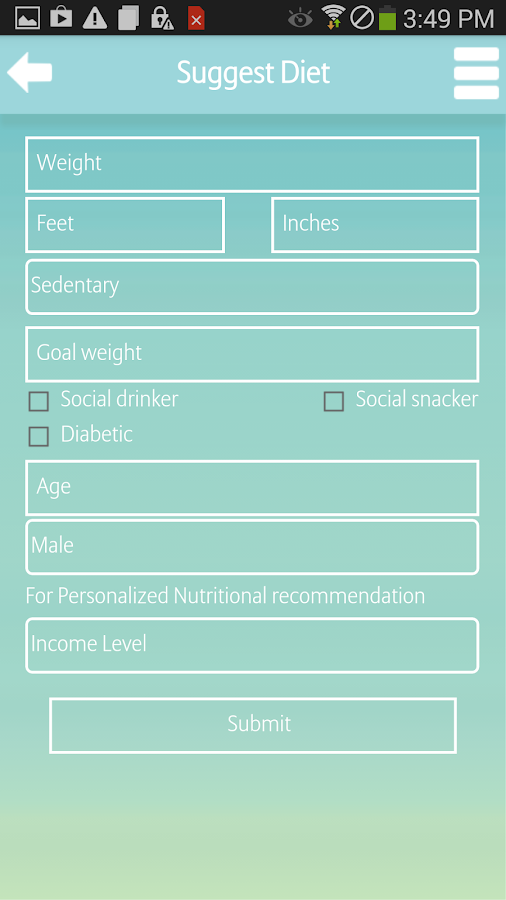 Diet Plan- screenshot
