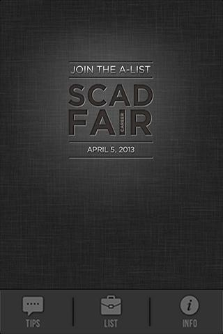 SCAD Career Fair - screenshot