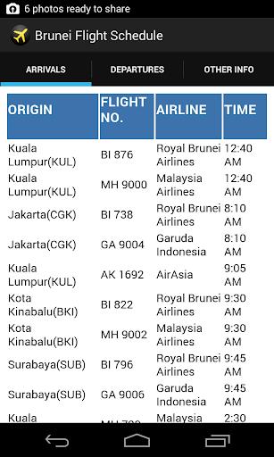 Brunei Flight Schedule
