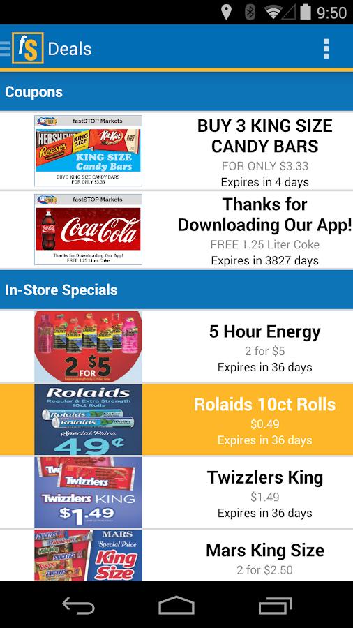 Fast Stop Markets App - screenshot