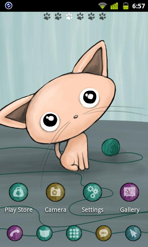 Kitten Theme GO Launcher EX - screenshot