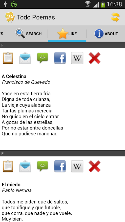 Todo Poemas (Spanish) - screenshot