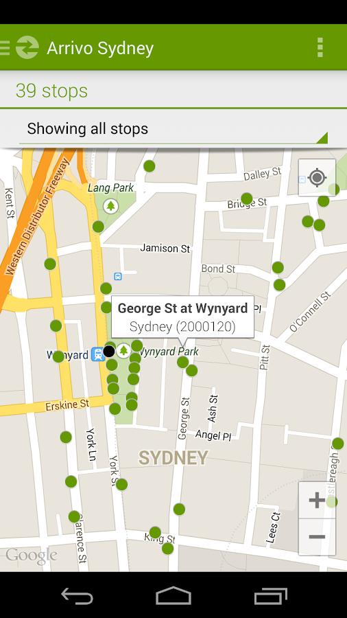 Arrivo Sydney Transit App- screenshot