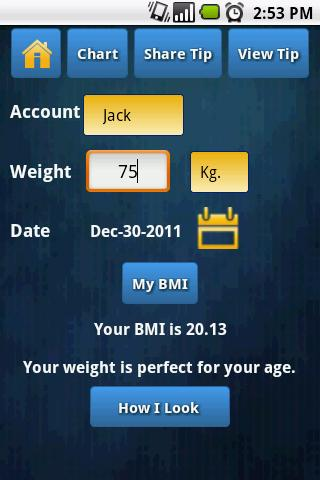 Am I Fat ? BMI calculator - screenshot