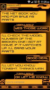 Legacy Evil Go SMS Pro Theme - screenshot thumbnail