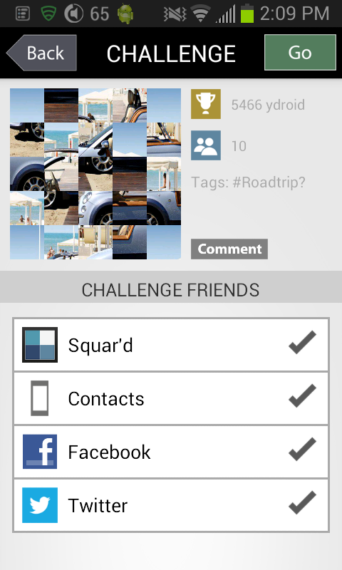 Squard - a photo sharing game - screenshot