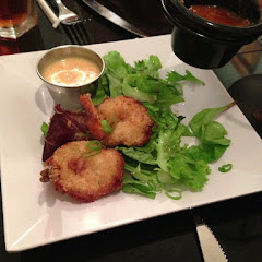 Coconut battered shrimp.. There were more, but they were eaten before I could take the picture!