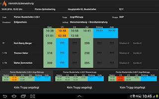 Screenshot of Atemschutzüberwachung