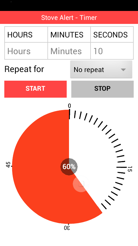 Stove Alert Timer- screenshot