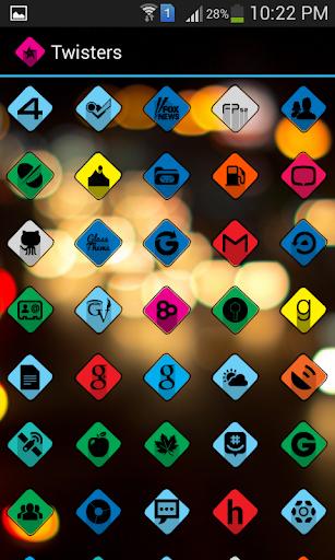 【免費個人化App】Twisters Icon Pack-APP點子