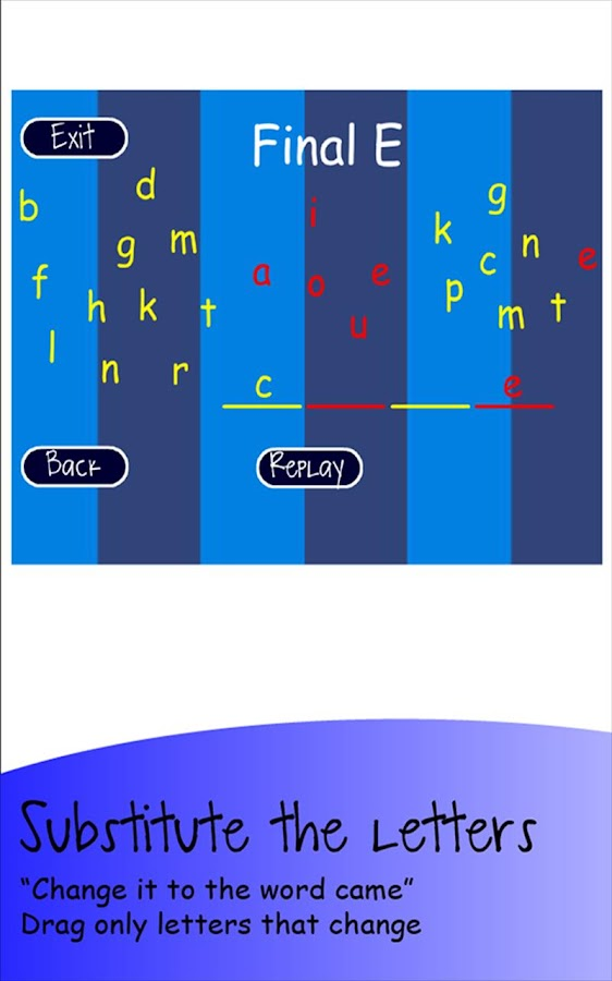8 Great Word Patterns Level 5 - screenshot
