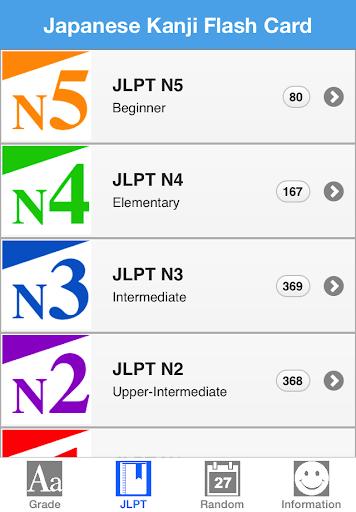 Japanese Kanji Flash Card JLPT