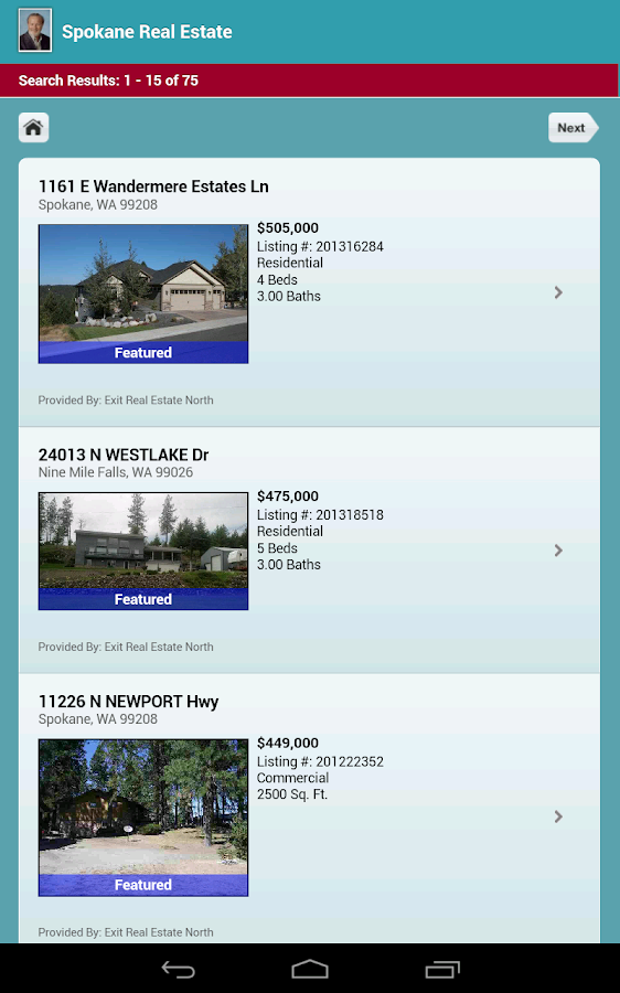 Spokane Manito Park Homes - screenshot
