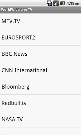 Worldwide Live TV channels