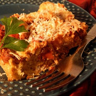 Meatball Bread Pudding.