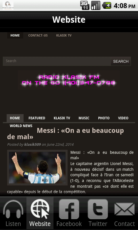 Radio Klasik FM- screenshot