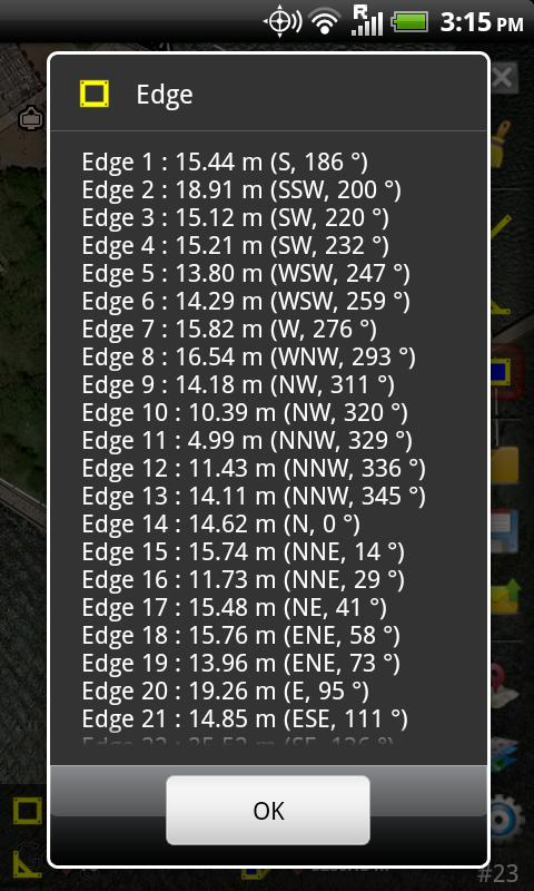 GPS Area Measure - screenshot