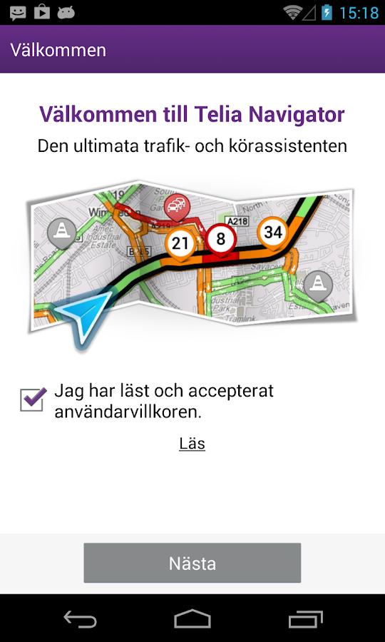 Telia Navigator- screenshot