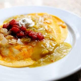Easy Green Chile Enchiladas.