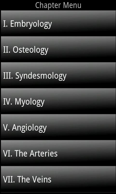 Gray's Anatomy Mobile - screenshot