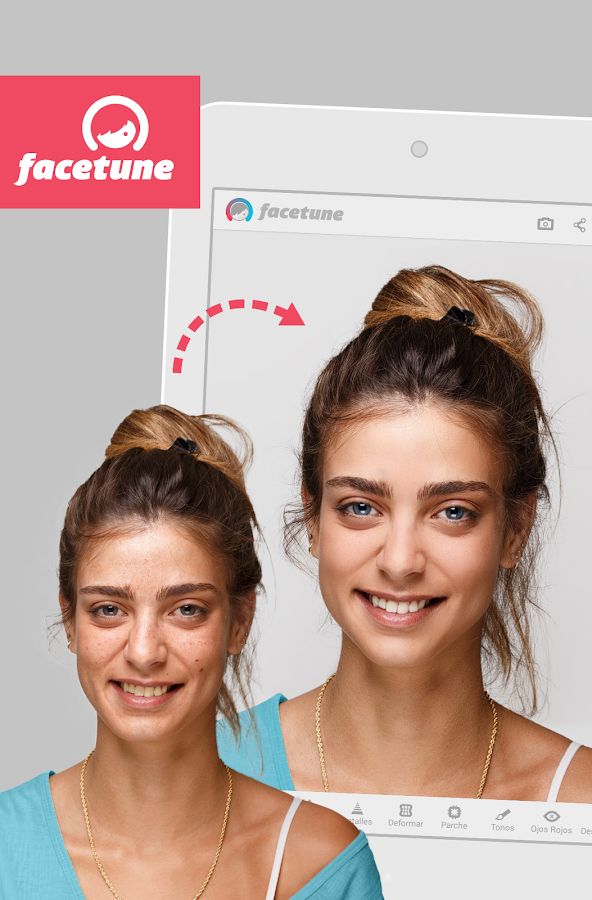 Facetune: captura de pantalla