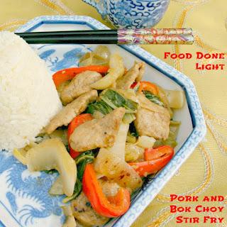 Pork and Bok Choy Stir Fry.