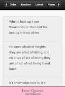 Screenshot of Romantic Love Quotes