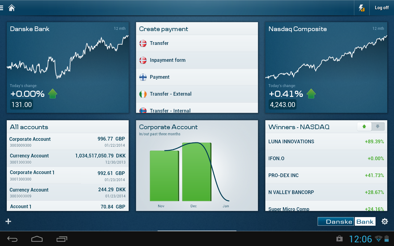 Tablet Business - screenshot