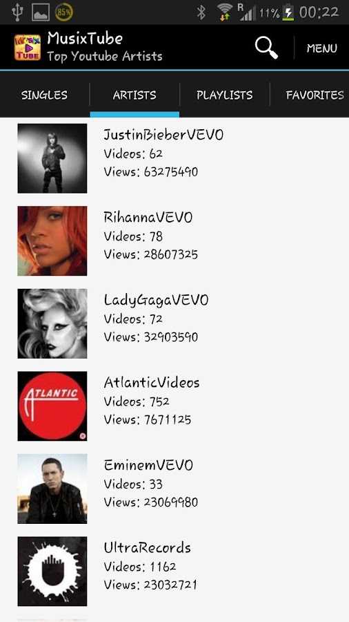 MusixTube - Best YouTube Music - screenshot