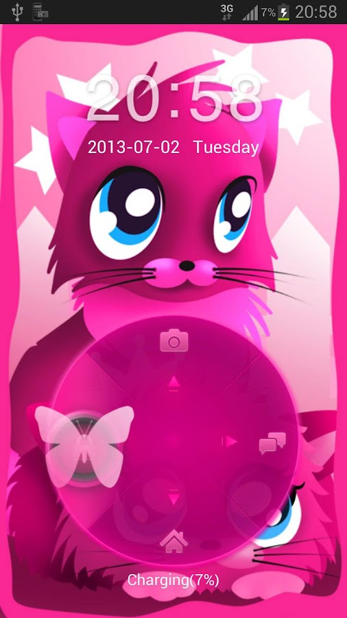 Pink cats theme 4 GO Locker- screenshot