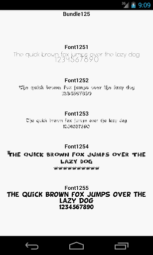 Fonts for FlipFont 125