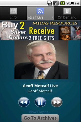 Geoff Metcalf Live - screenshot