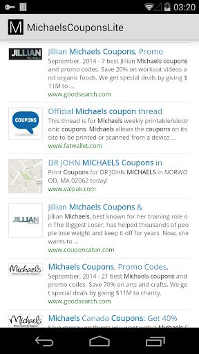 購物必備APP下載|Michaels Coupons Lite 好玩app不花錢|綠色工廠好玩App
