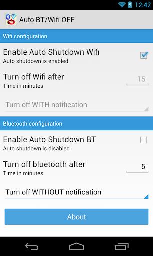 Auto BT Wifi OFF