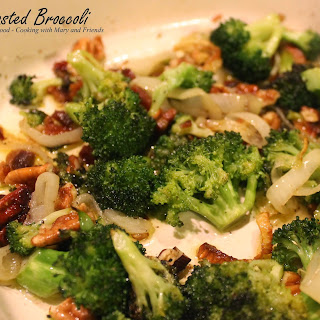 Roasted Broccoli with Onions and Bacon.