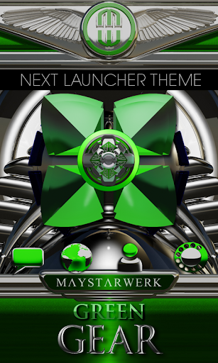 Next Launcher Theme Green Gear