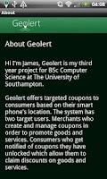 Screenshot of Geolert