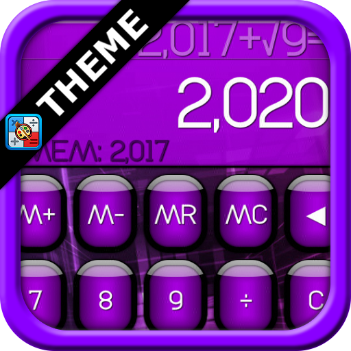 SCalc theme Jelly Purple