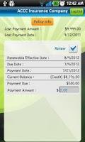 Screenshot of ACCC Insurance
