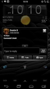 GO SMS Gunmetal Cobalt Theme- screenshot thumbnail