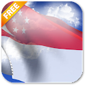 3D Singapore Flag LWP icon